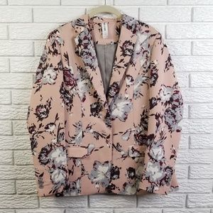 Agnes & Dora Floral Blazer Jacket XL Pink